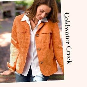 Coldwater Creek Orange Textured Stretch Blazer